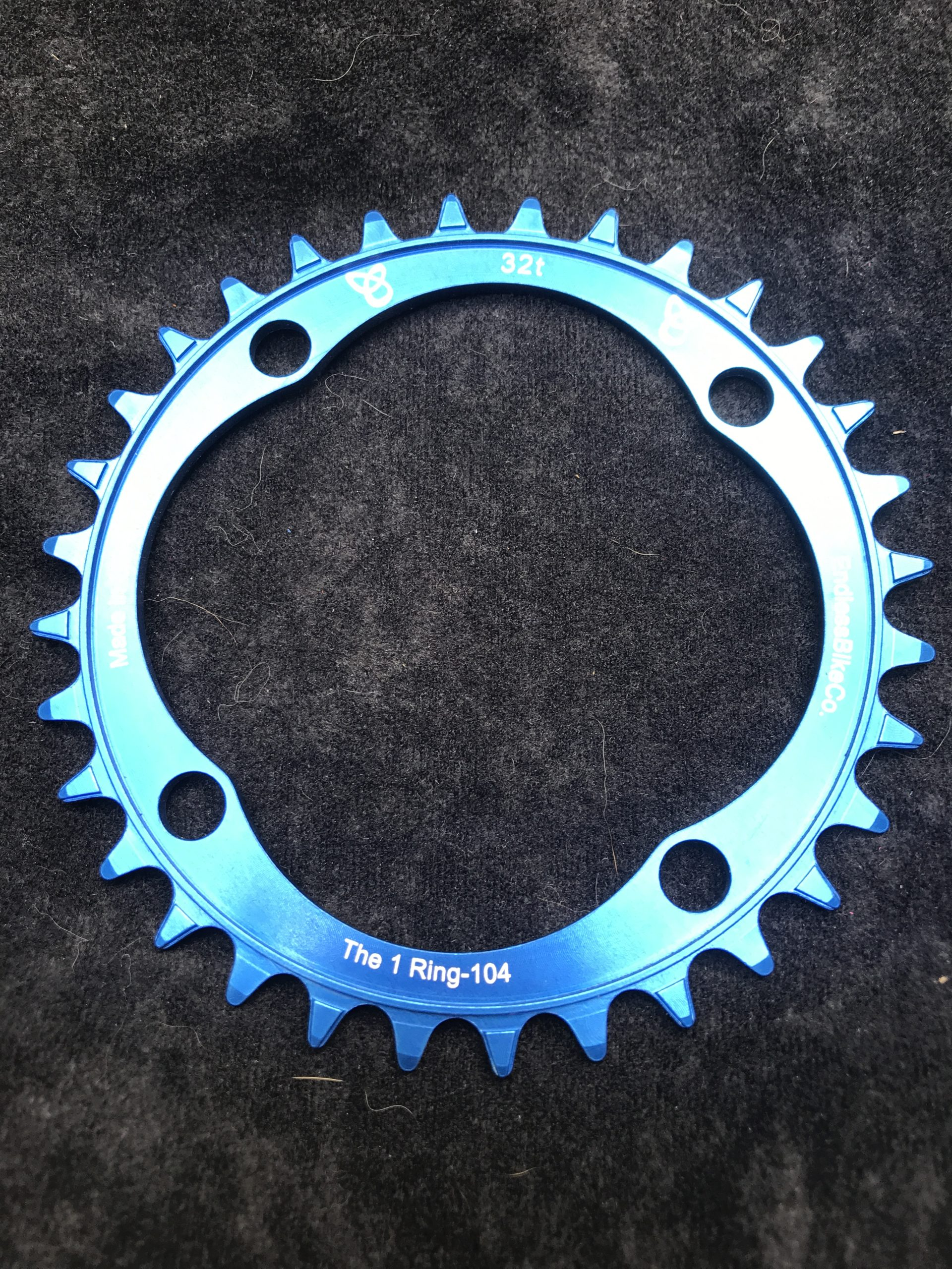 104 BCD chainring 32t blue