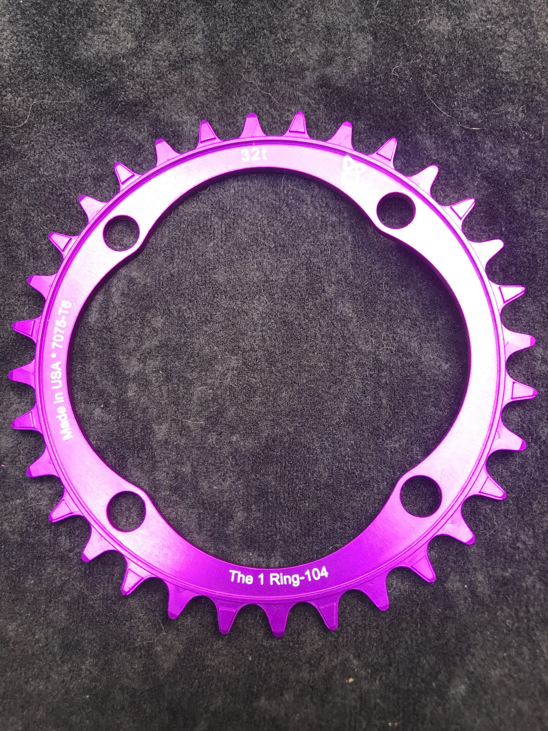 104 BCD chainring 32t purple