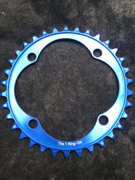 104 BCD chainring 34t blue