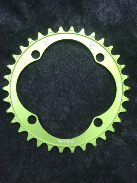 104 BCD chainring 34t green