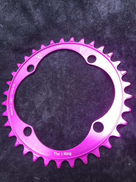 104 BCD chainring 34t pink