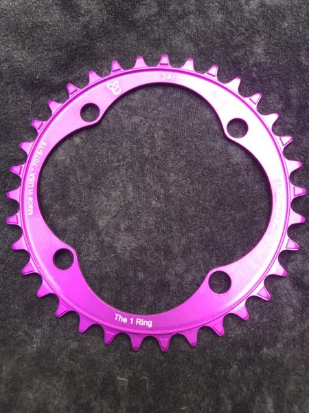104 BCD chainring 34t purple