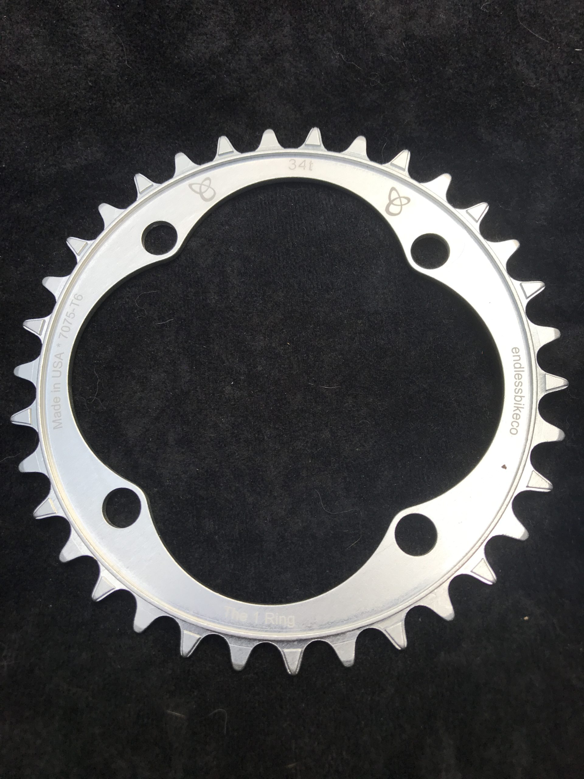 104 BCD chainring 34t silver