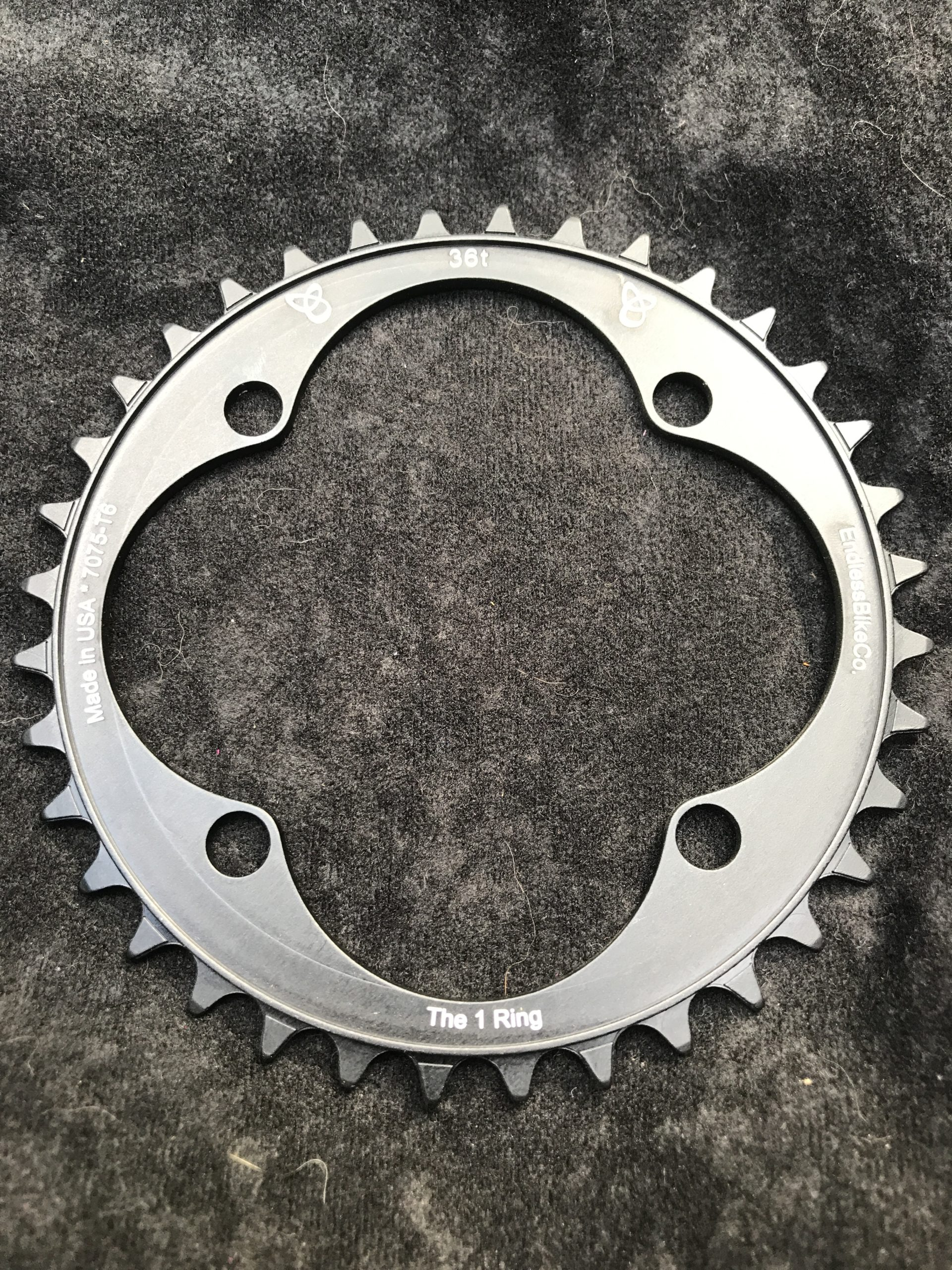 104 BCD chainring 36t black