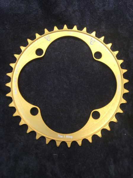 104 BCD chainring 36t gold