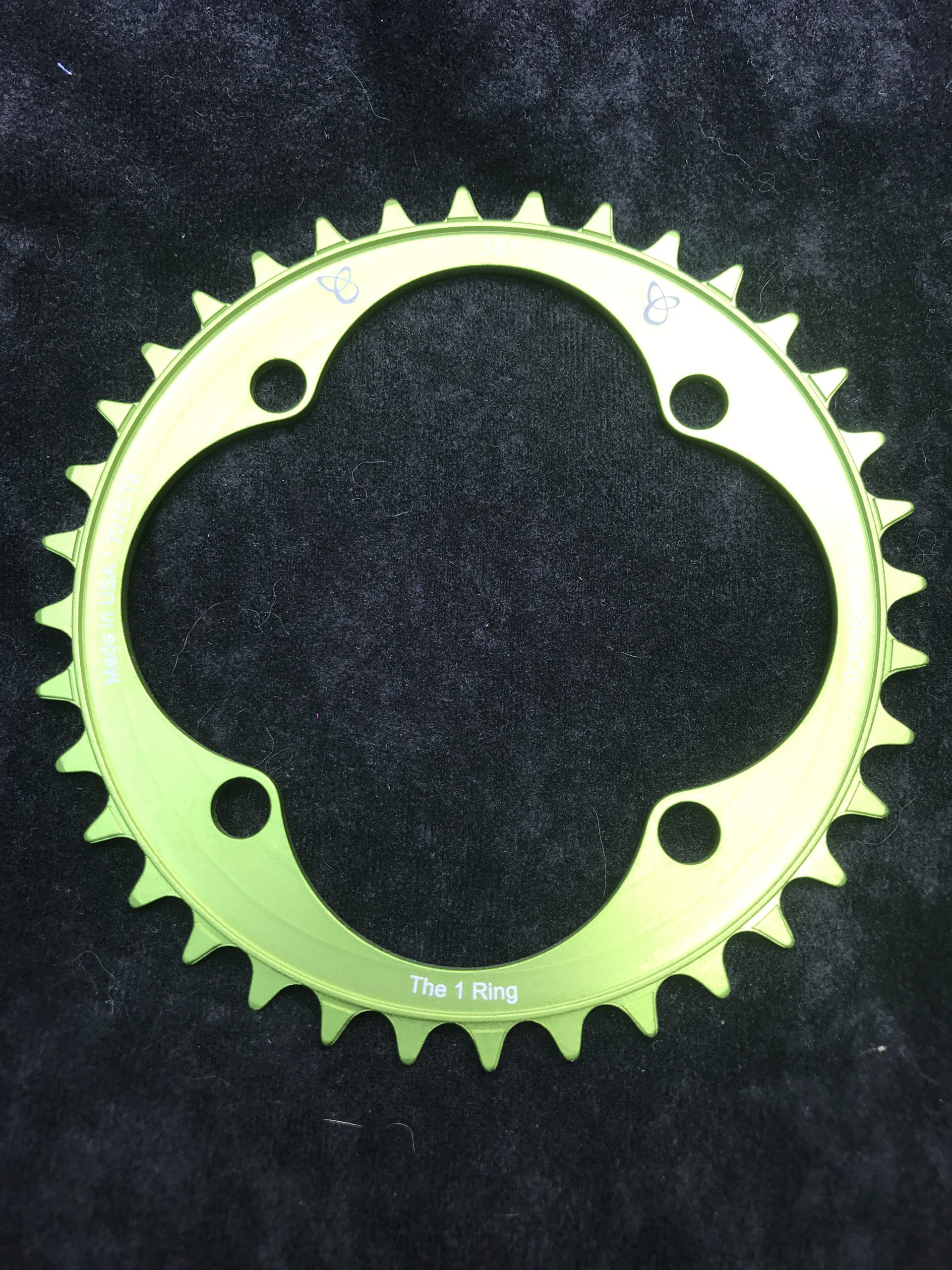 104 BCD chainring 36t green