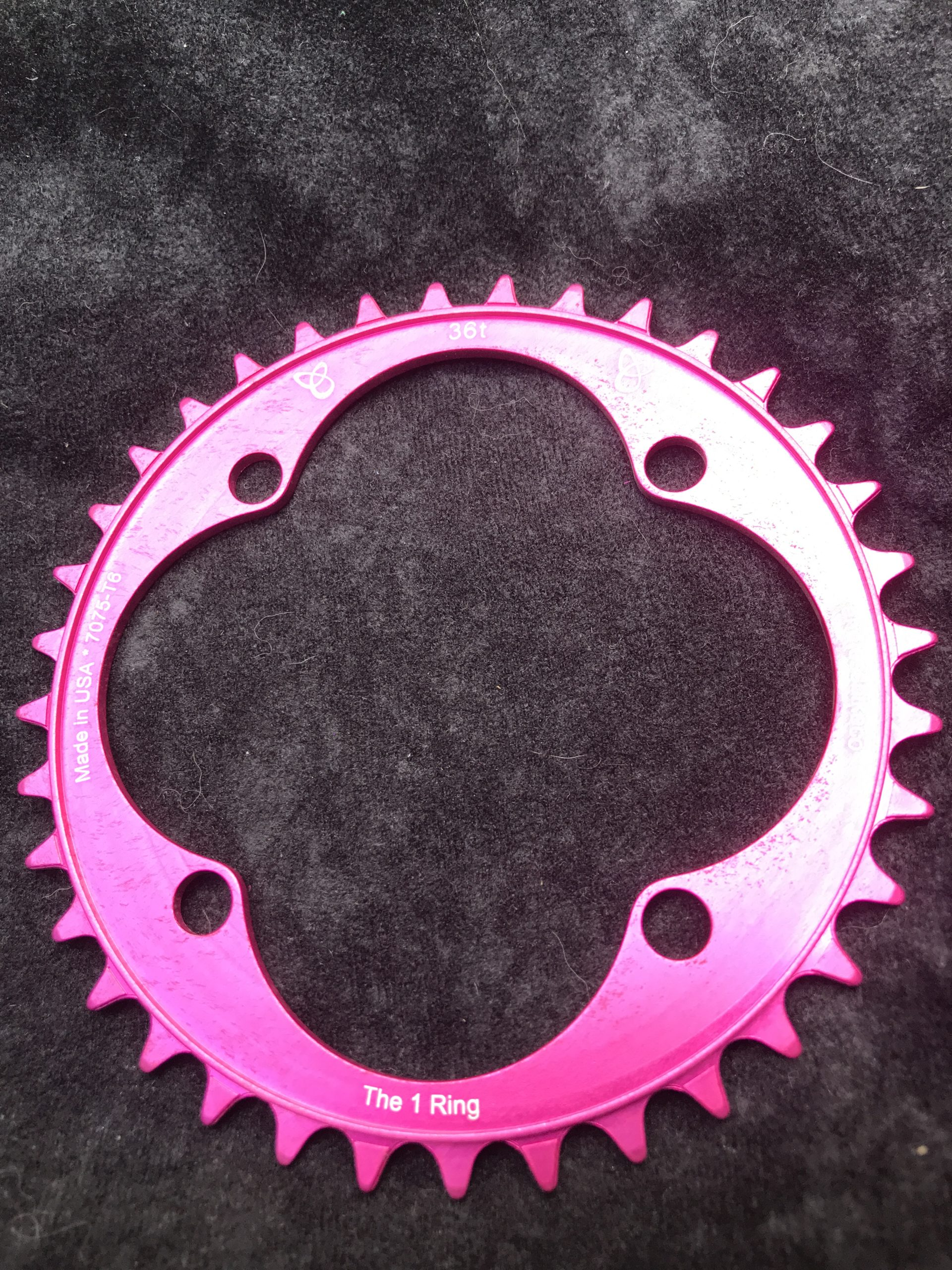 104 BCD chainring 36t pink