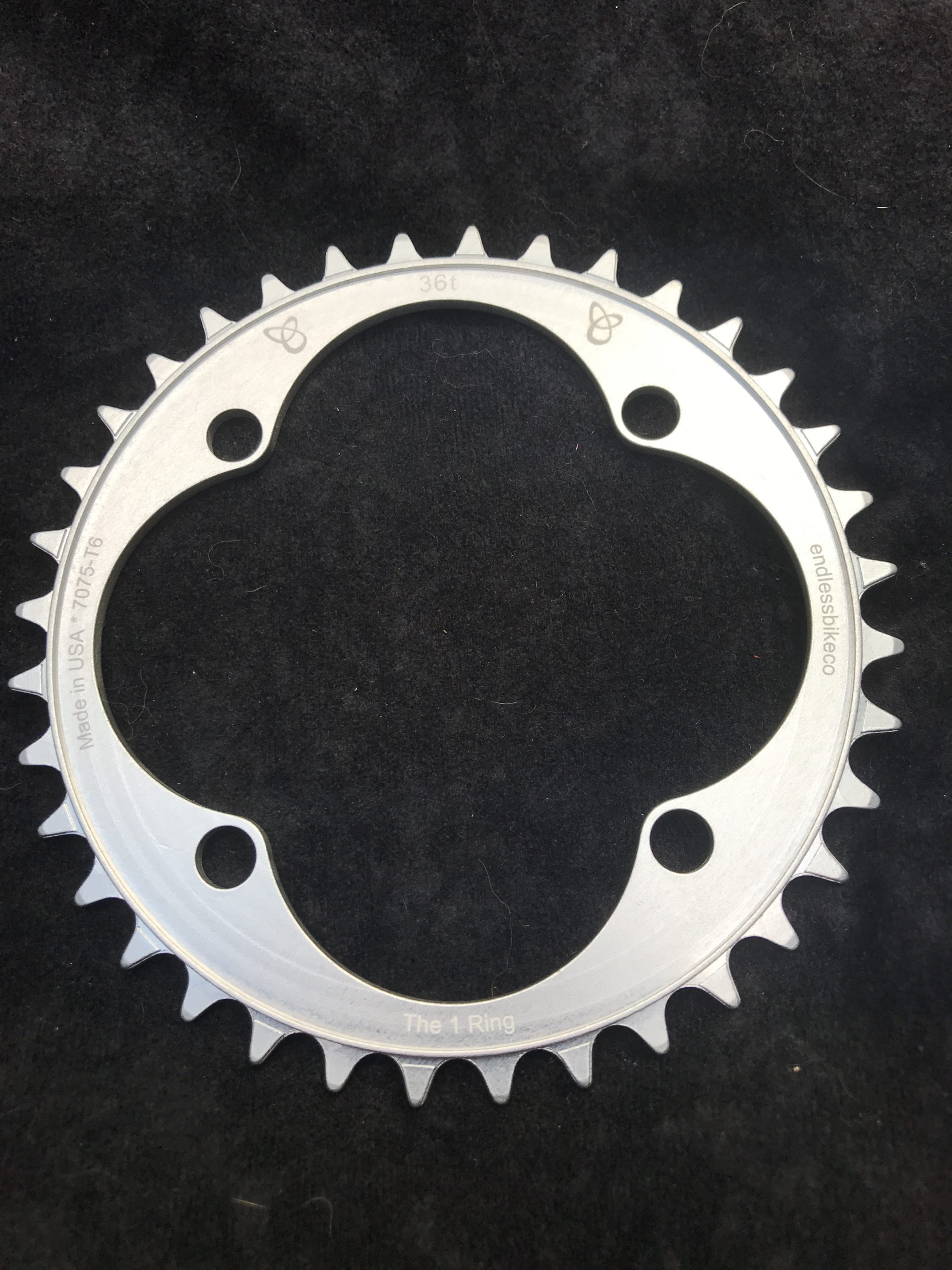 104 BCD chainring 36t silver