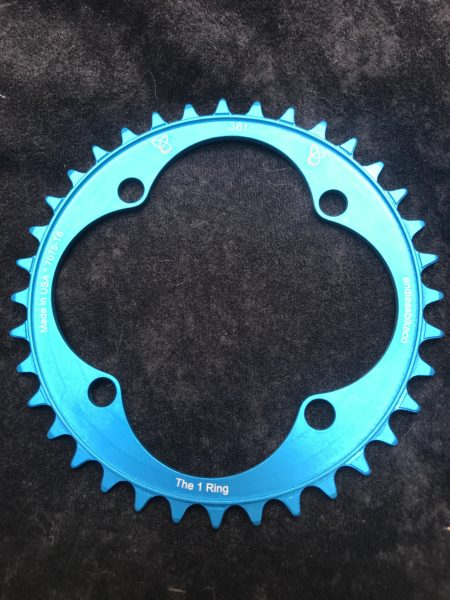104 BCD chainring 36t teal