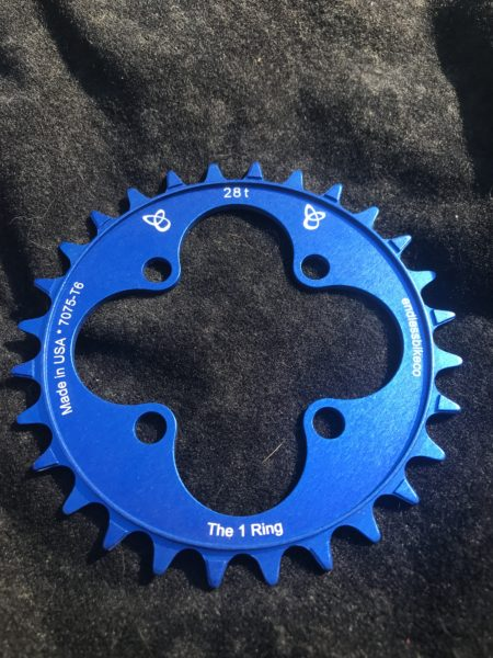 28t chainring blue