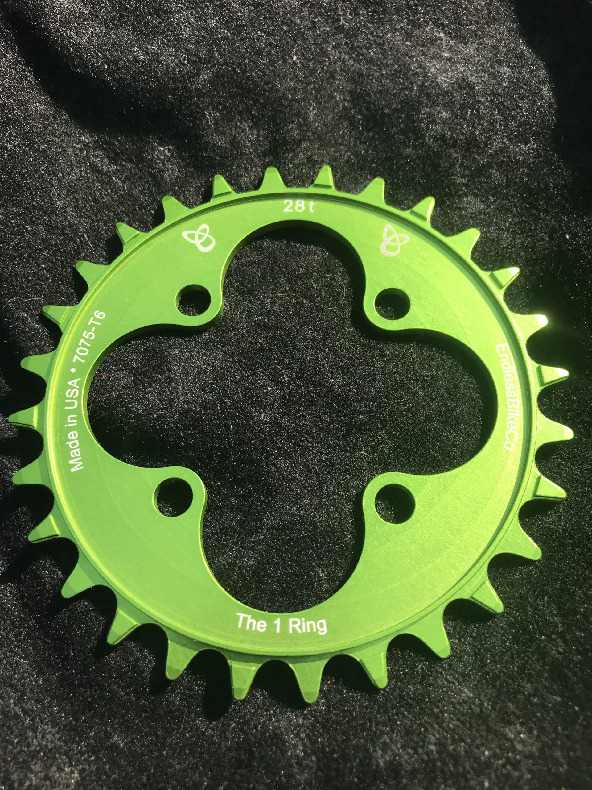 28t chainring green