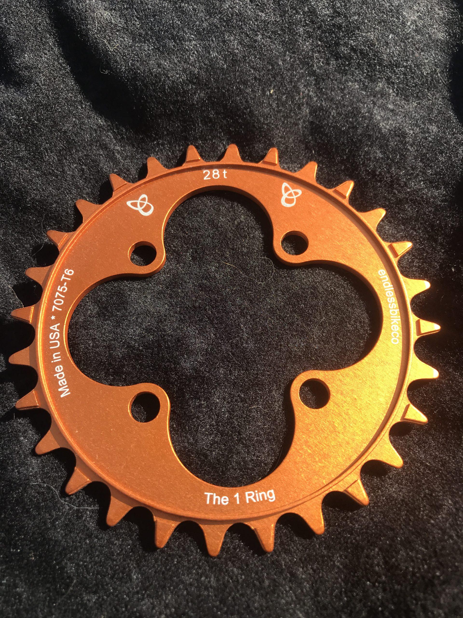 28t chainring orange