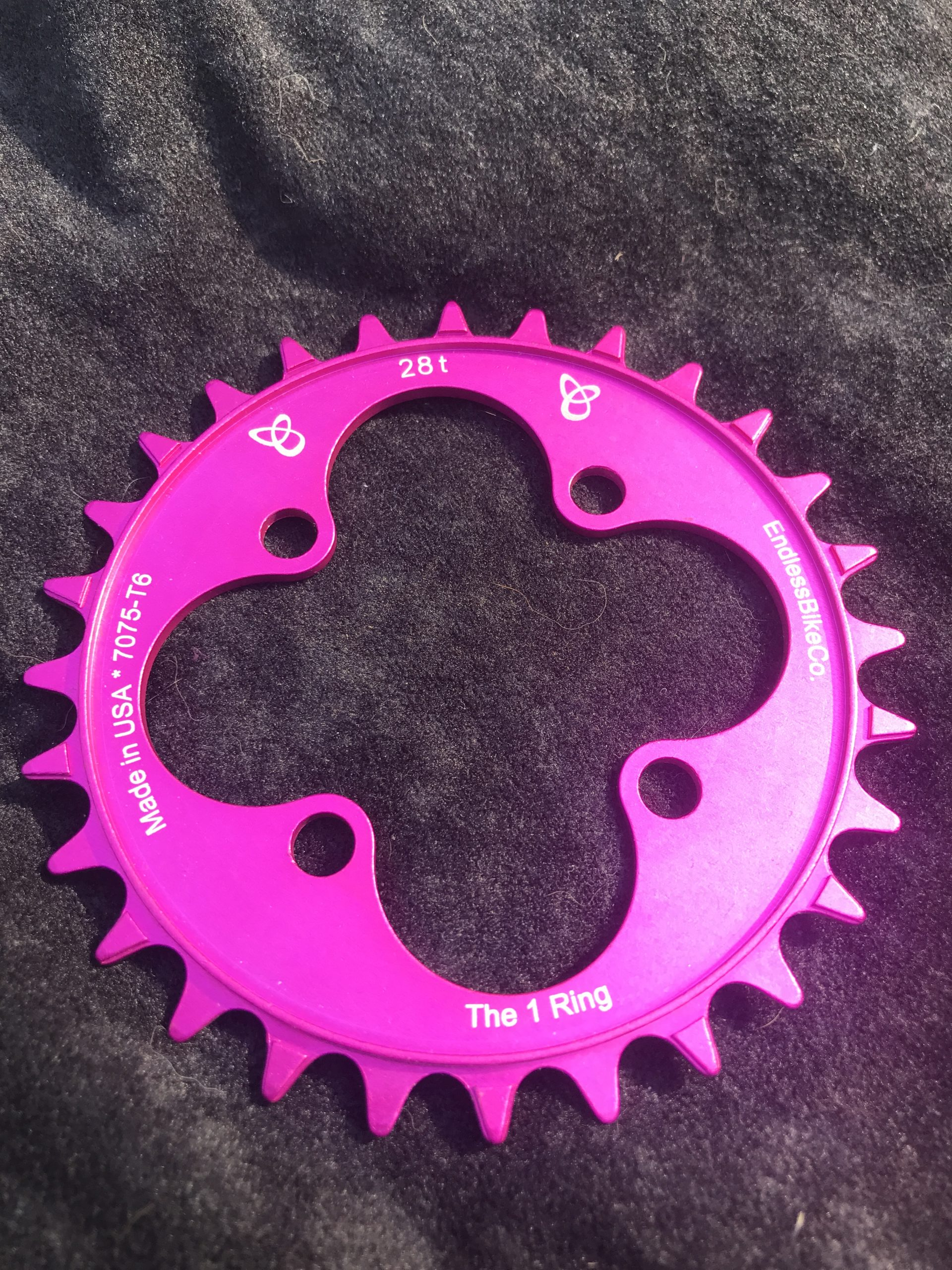 28t chainring pink
