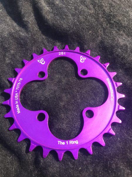 28t chainring purple