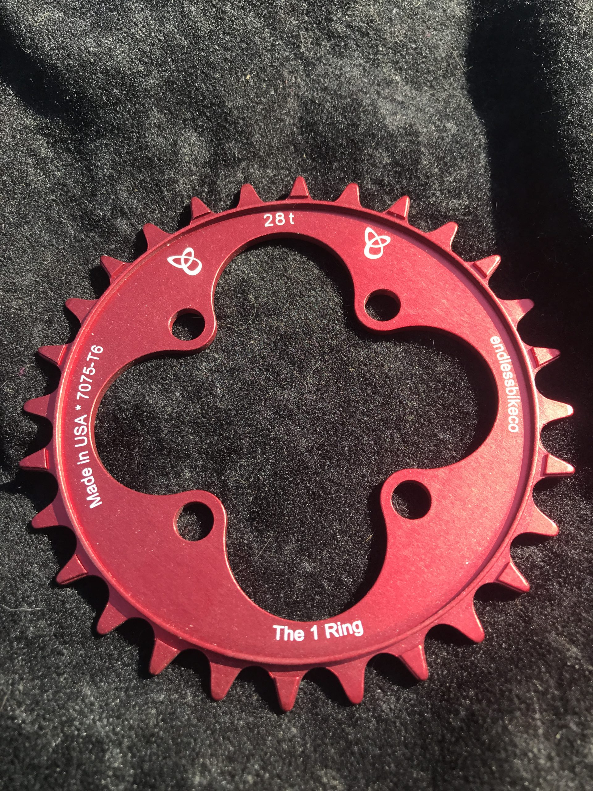 28t chainring red