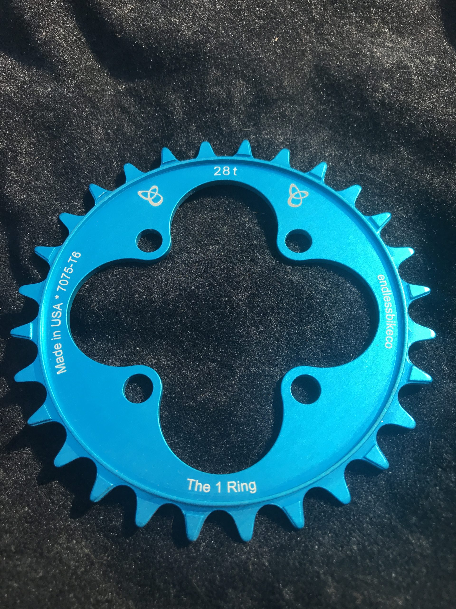 28t chainring teal