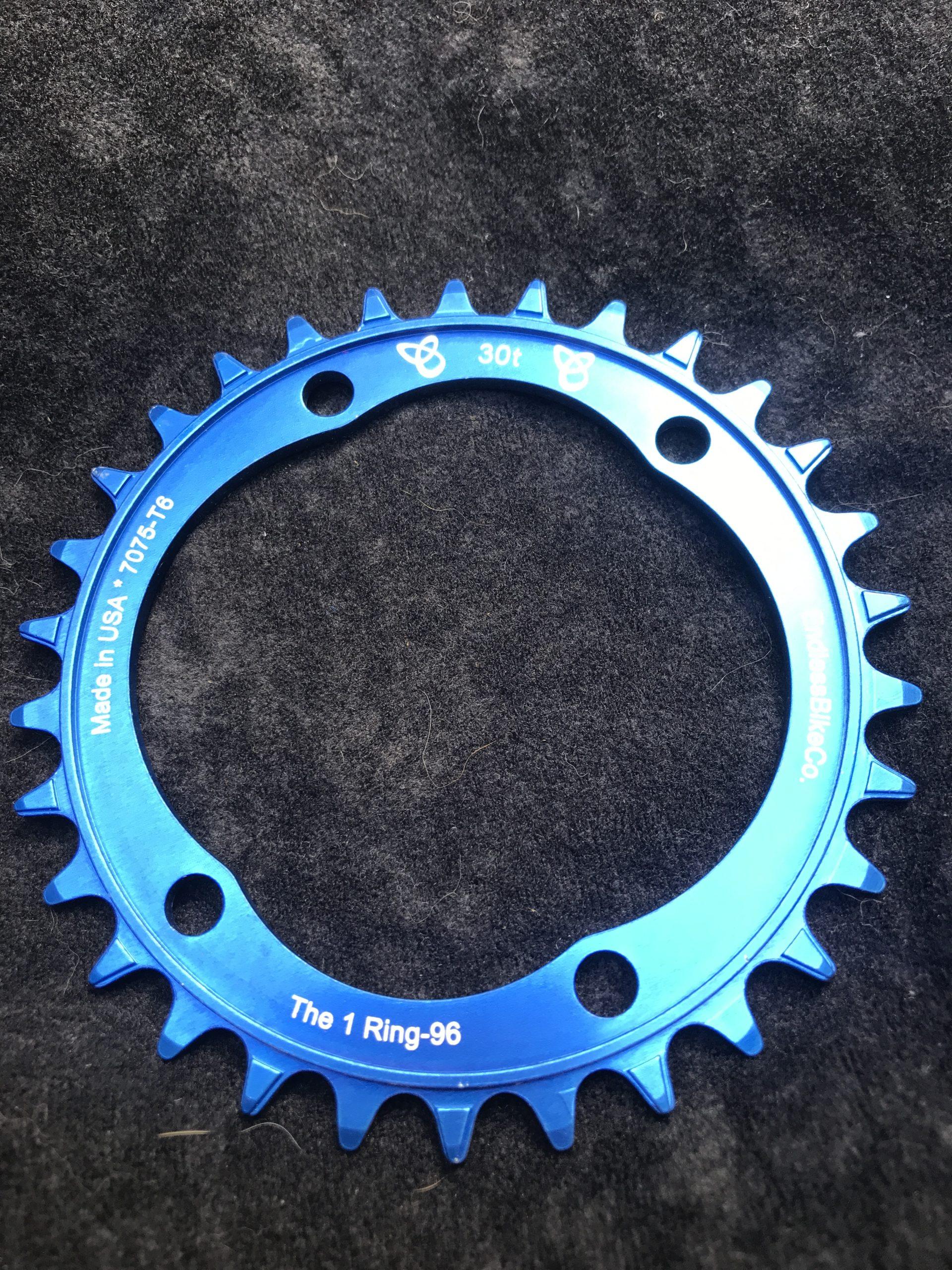 Shimano XT chainring 30t blue