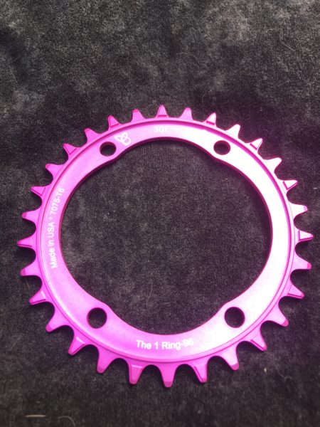 Shimano XT chainring 30t pink