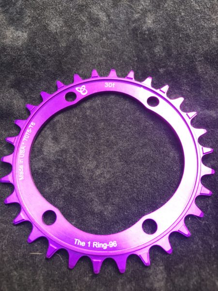 Shimano XT chainring 30t purple