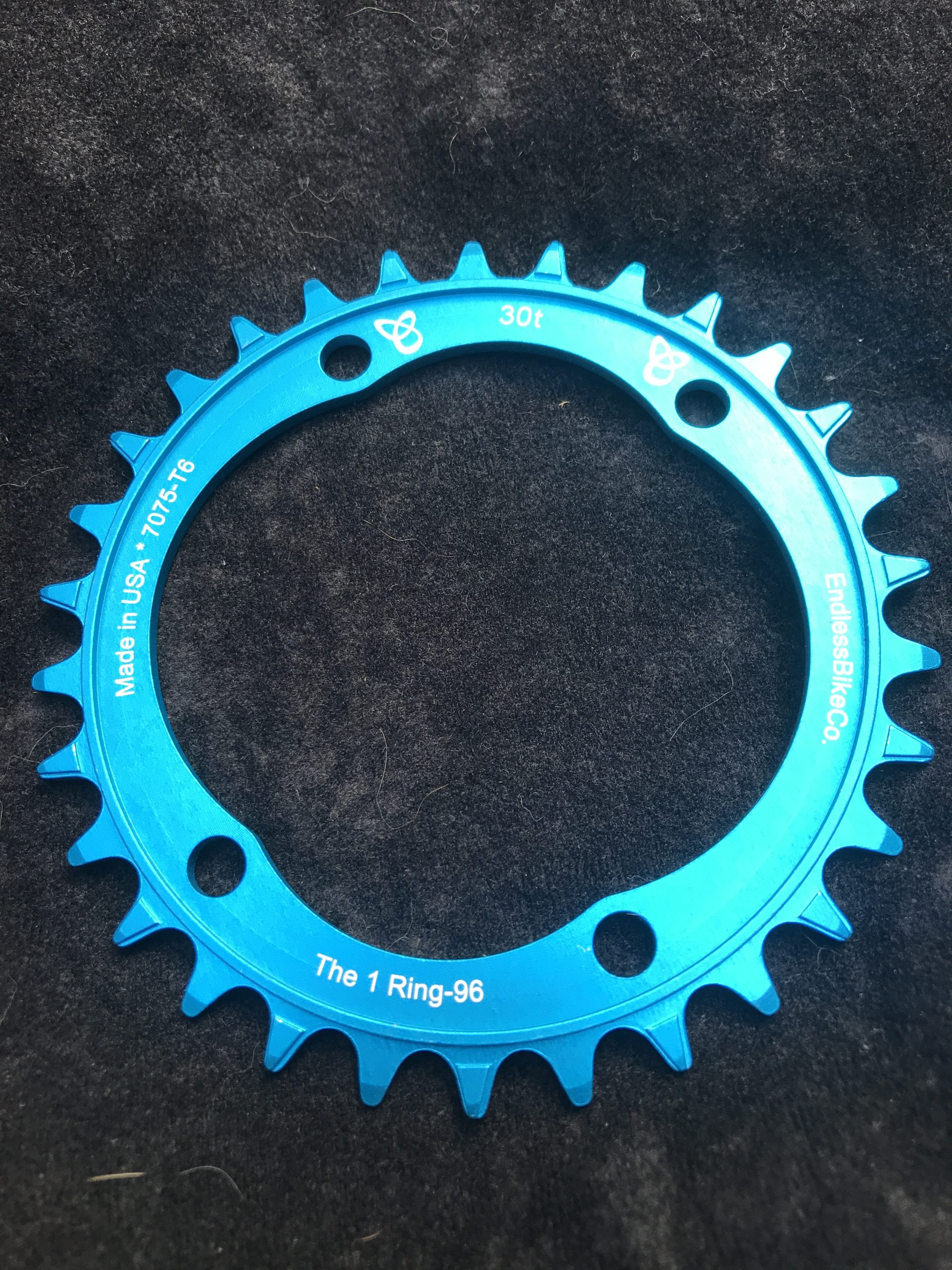 Shimano XT chainring 30t teal