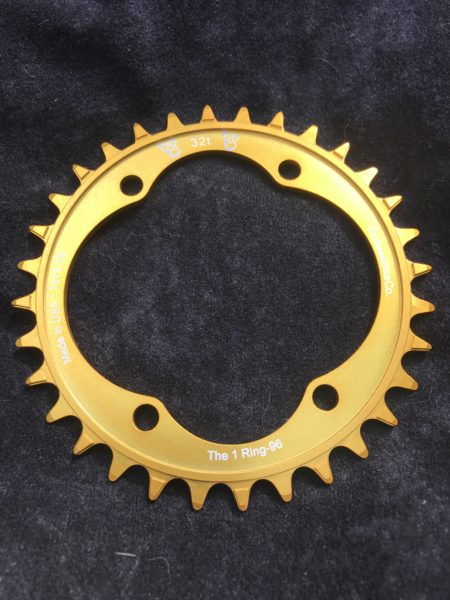 Shimano XT chainring 32t gold