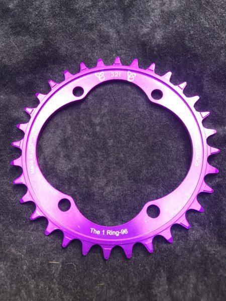Shimano XT chainring 32t purple
