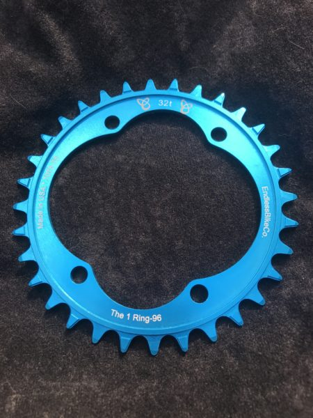 Shimano XT chainring 32t teal