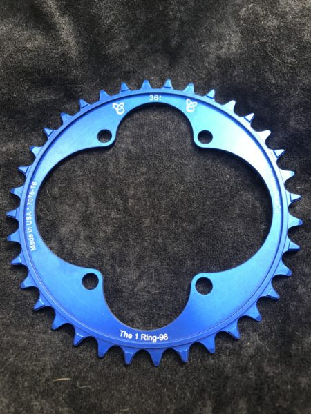 Shimano XT chainring 36t blue
