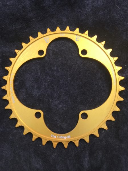 Shimano XT chainring 36t gold