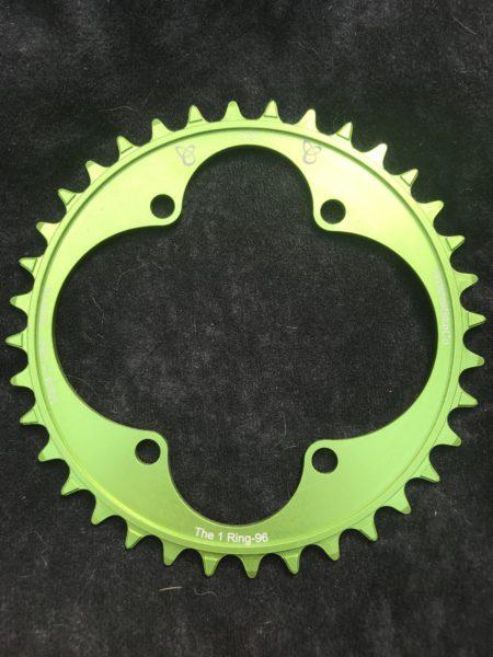 Shimano XT chainring 36t green