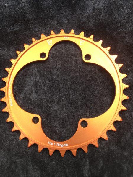 Shimano XT chainring 36t orange