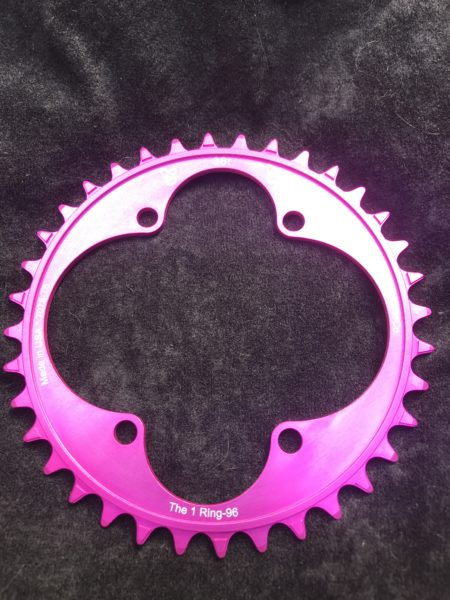 Shimano XT chainring 36t pink