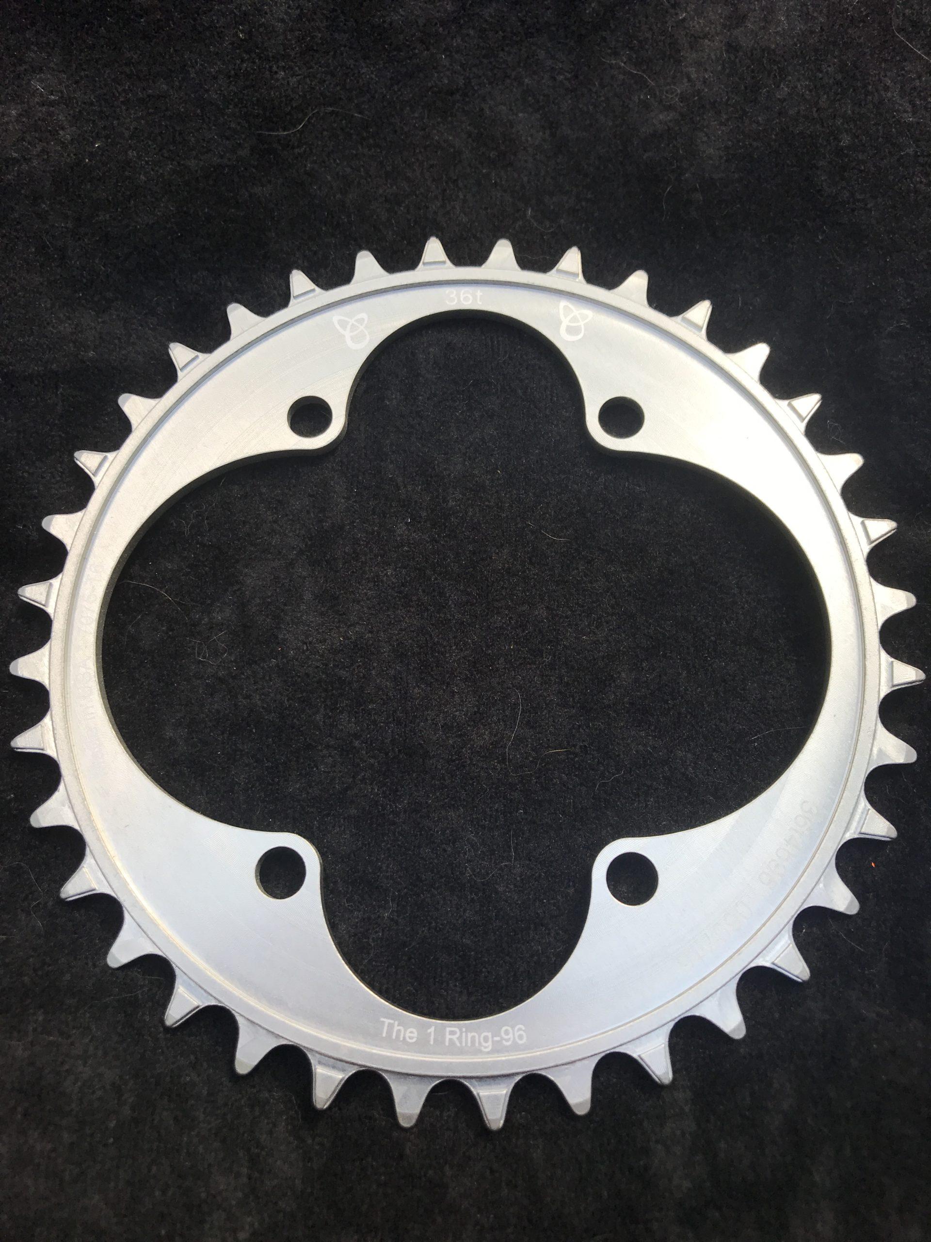 Shimano XT chainring 36t silver