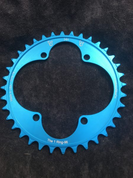 Shimano XT chainring 36t teal