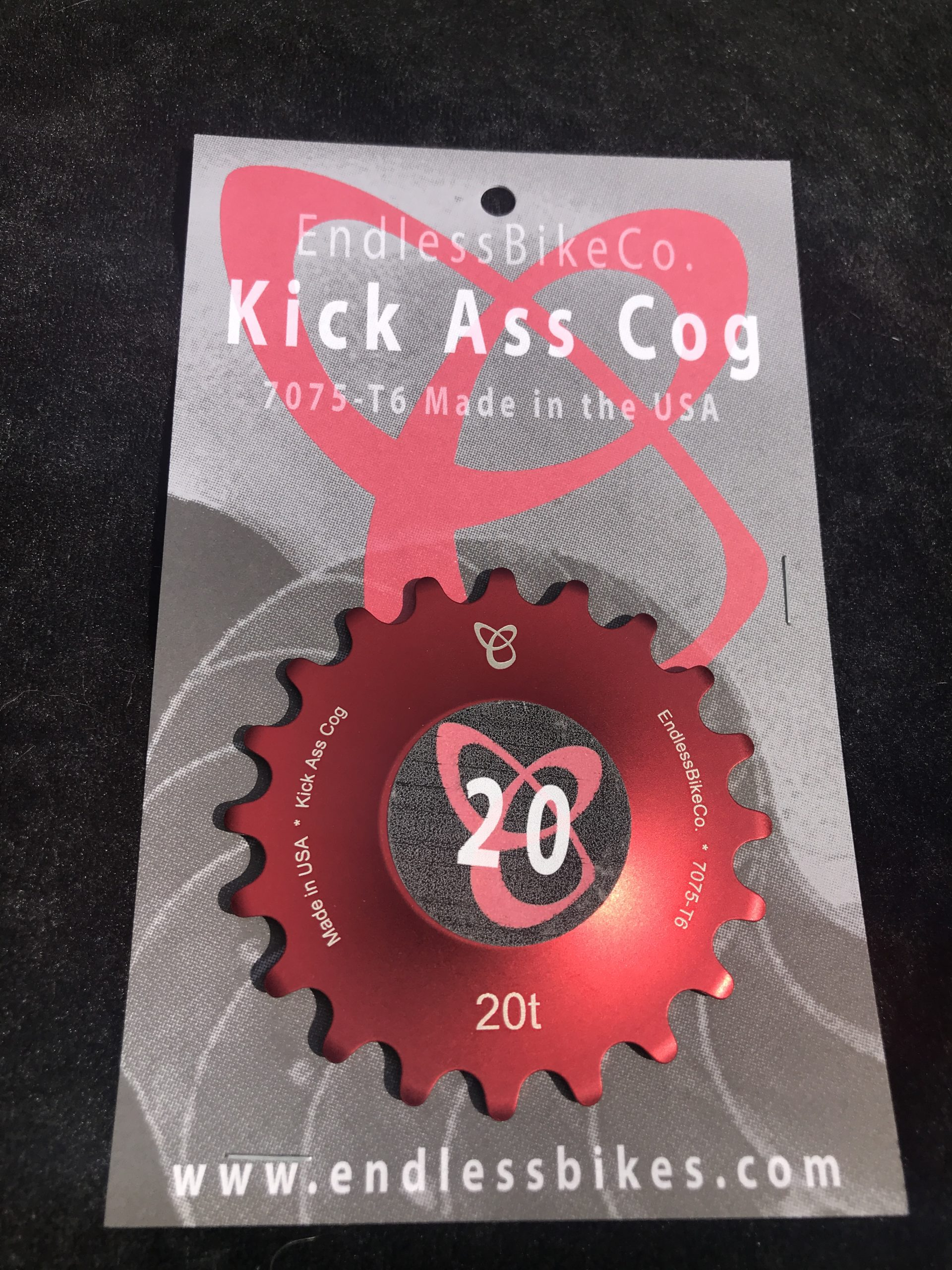 Single speed cog 20t red