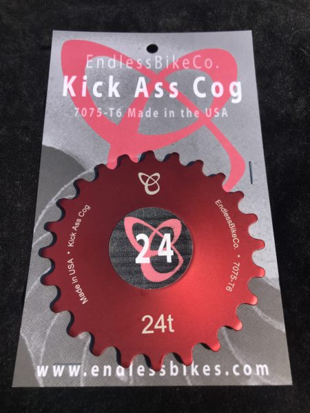 Single speed cog 24t red