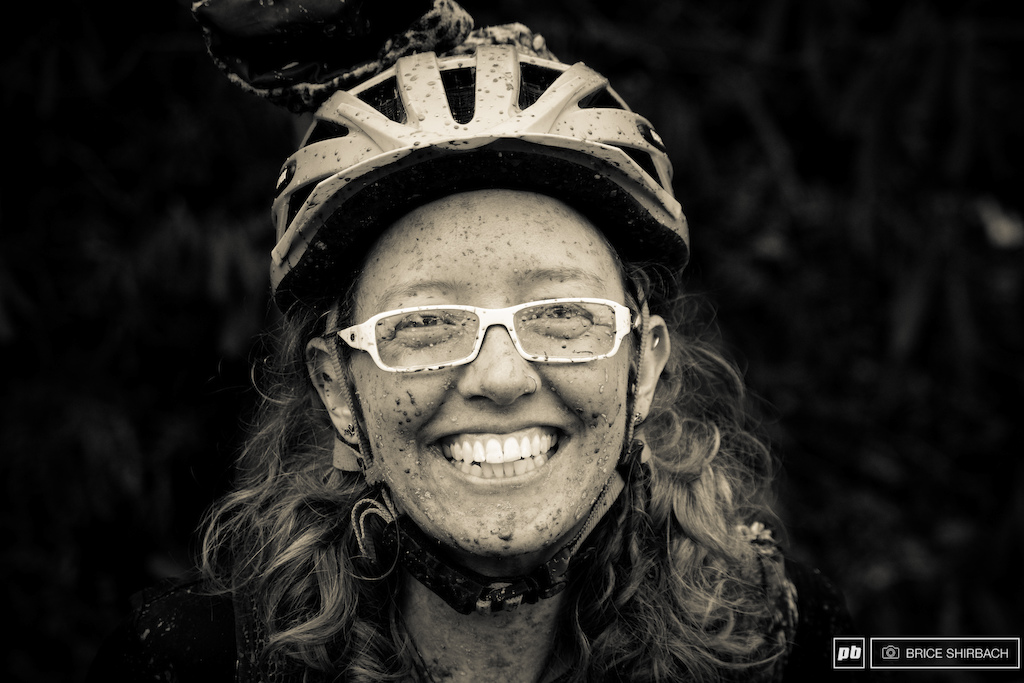Single speed mountain bike rider Shanna Powell