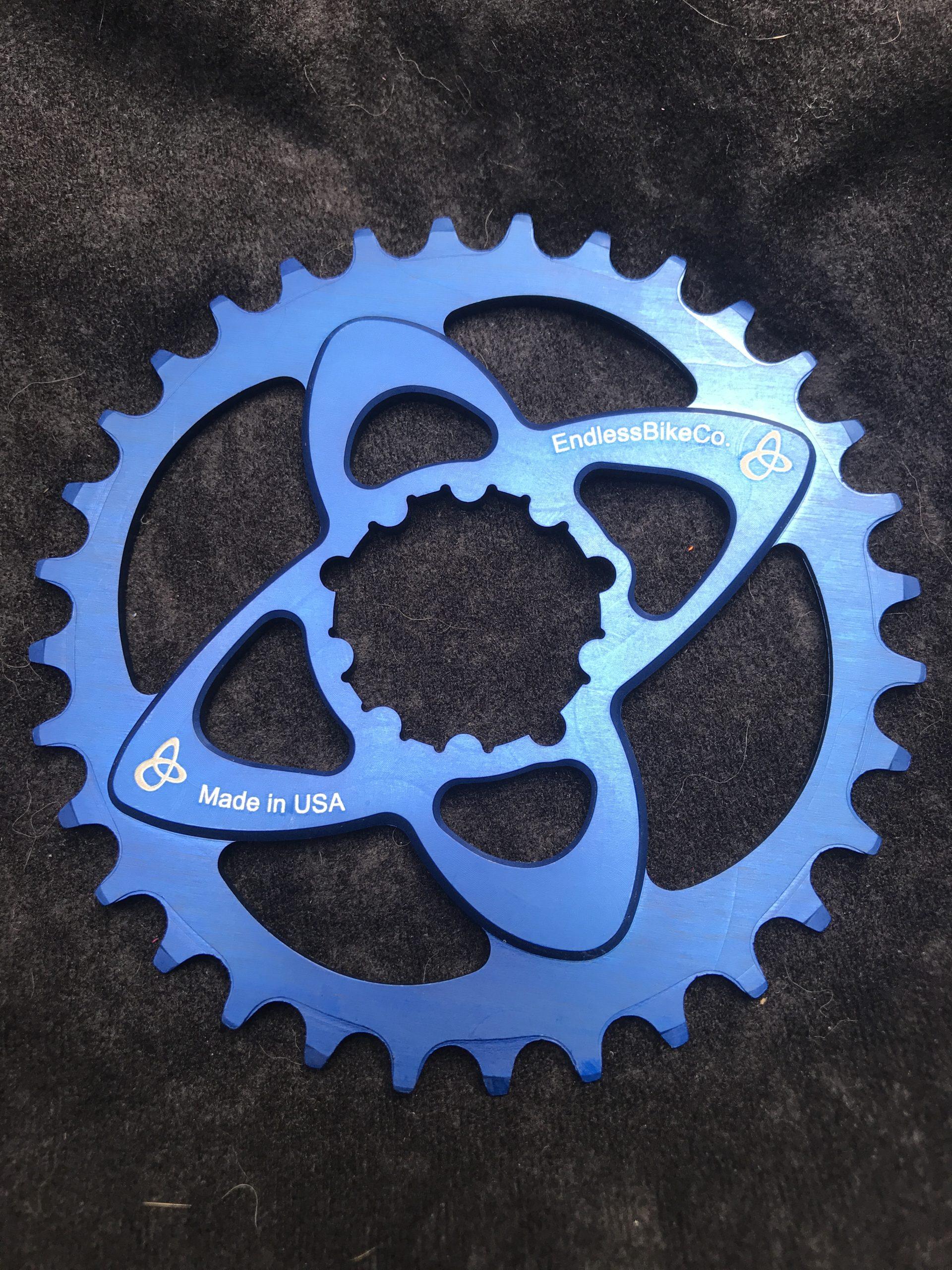 SRAM direct mount chainring blue
