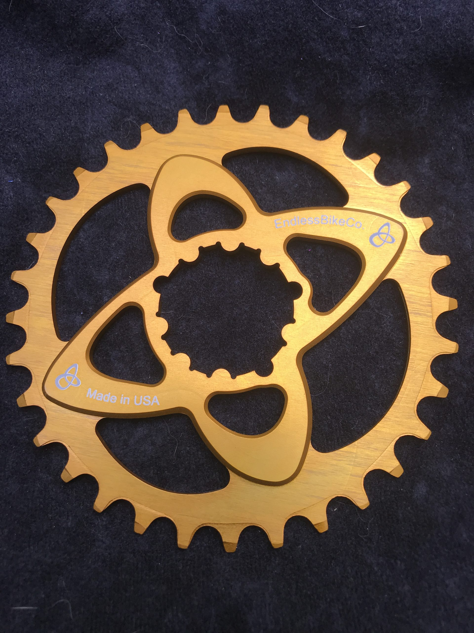 SRAM direct mount chainring gold