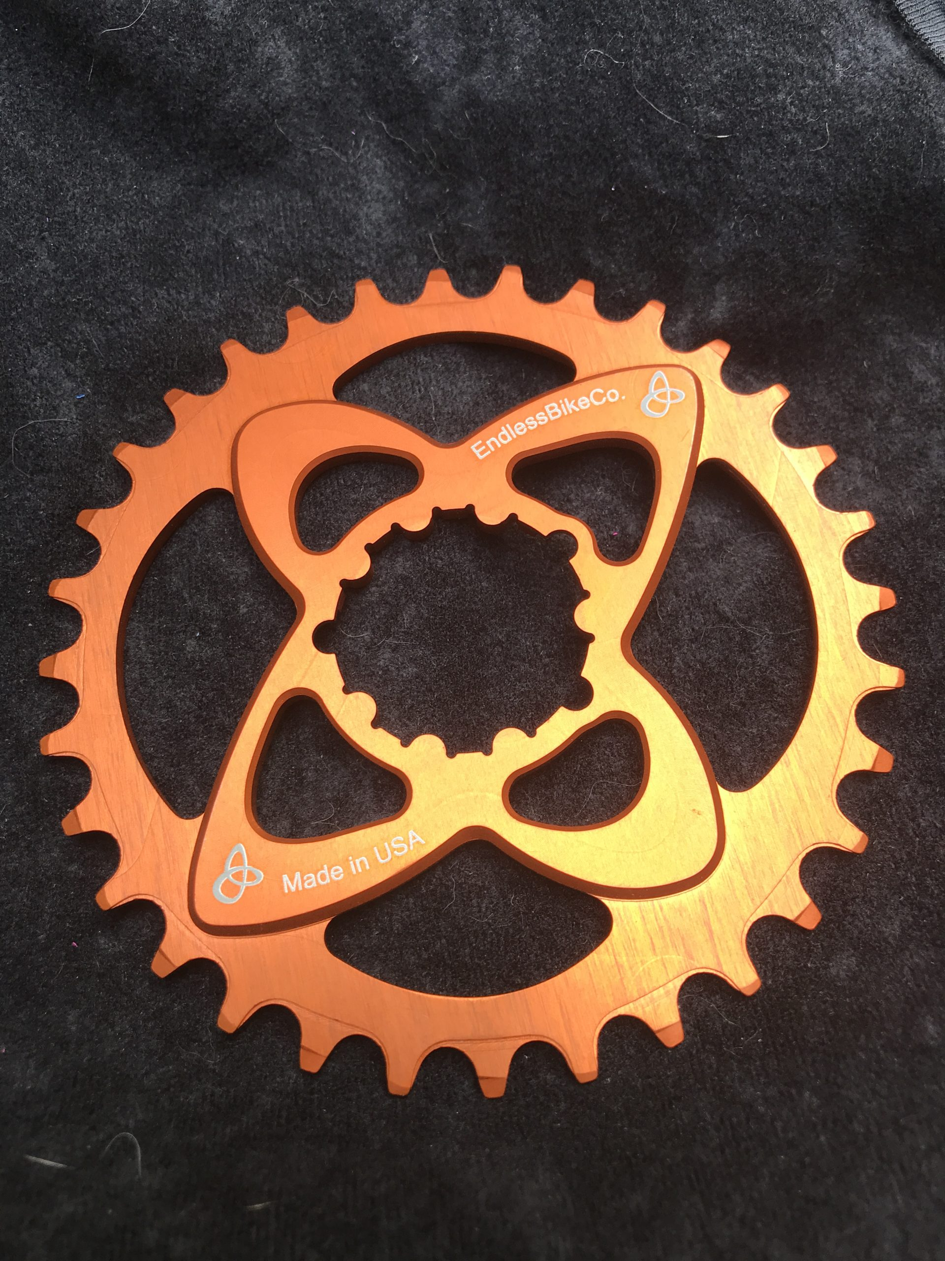 SRAM direct mount chainring orange