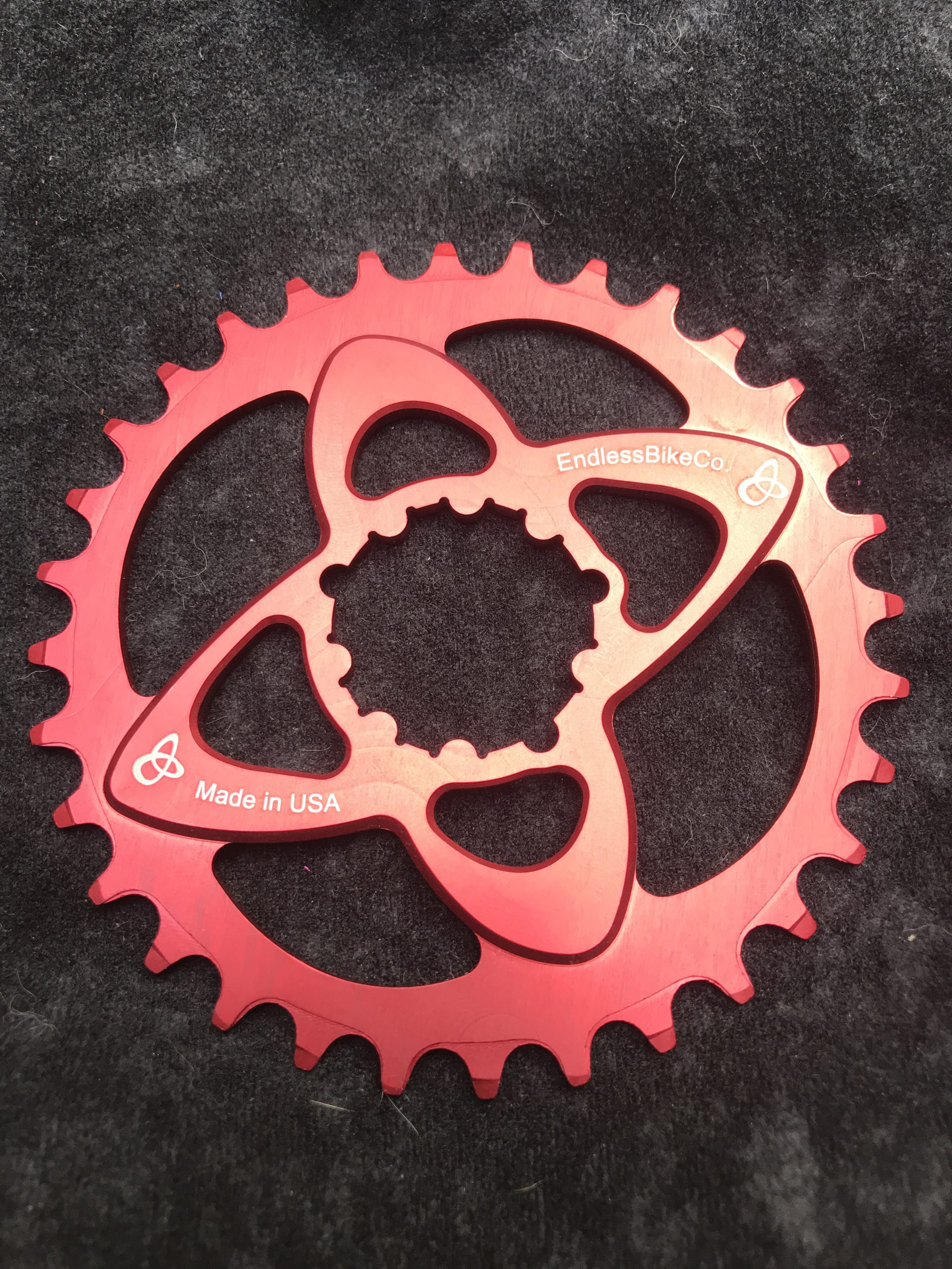SRAM direct mount chainring red