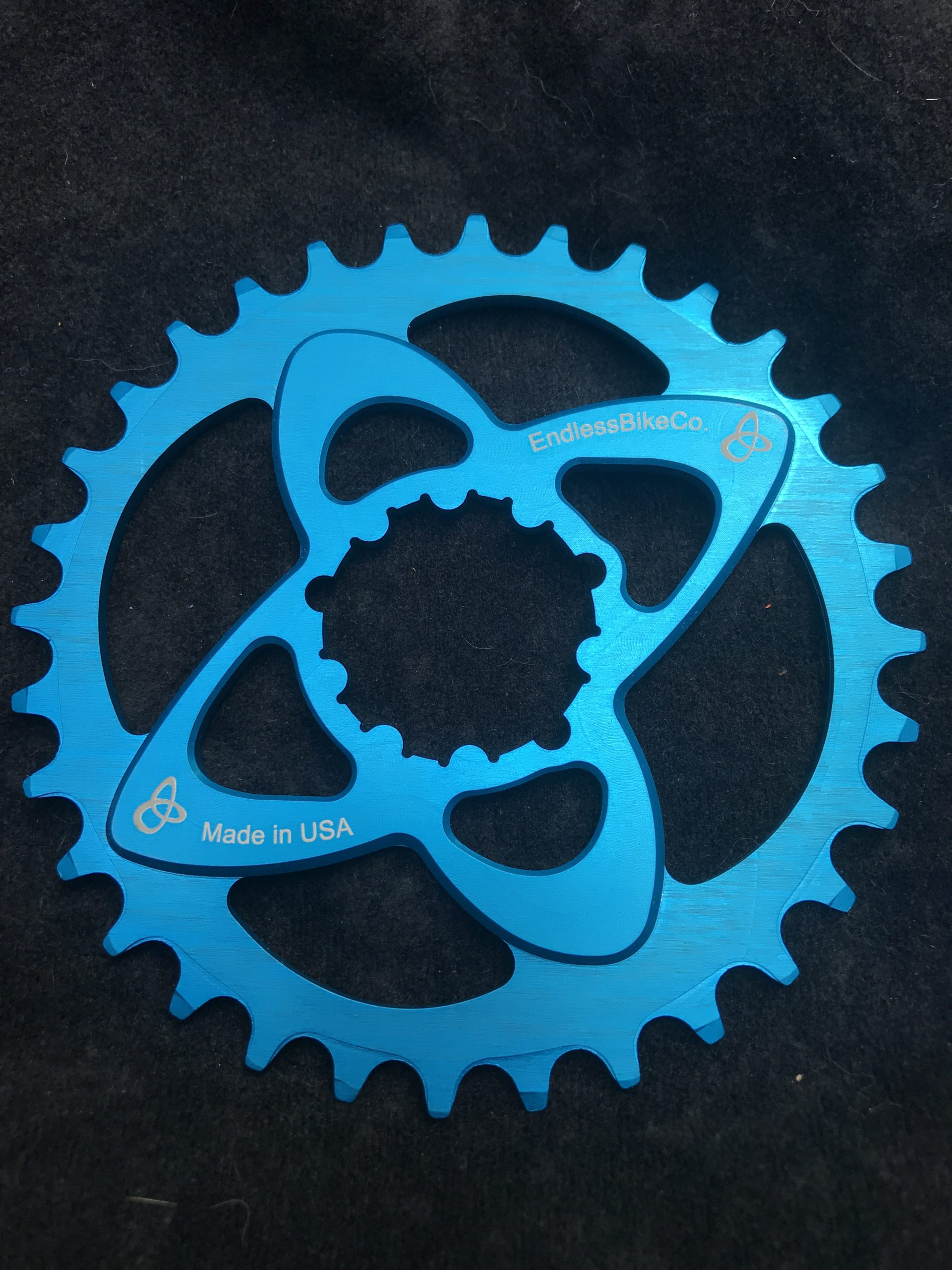 SRAM direct mount chainring teal