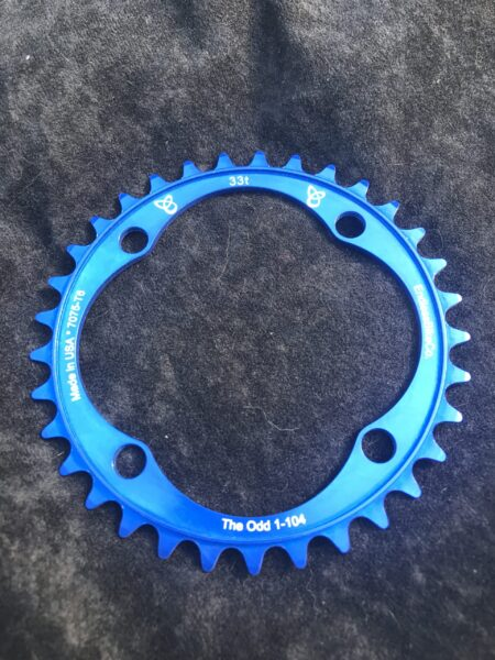 Narrow wide chain ring 33 tooth blue