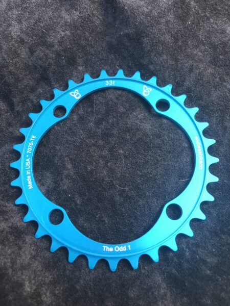 Narrow wide chain ring 33 tooth teal