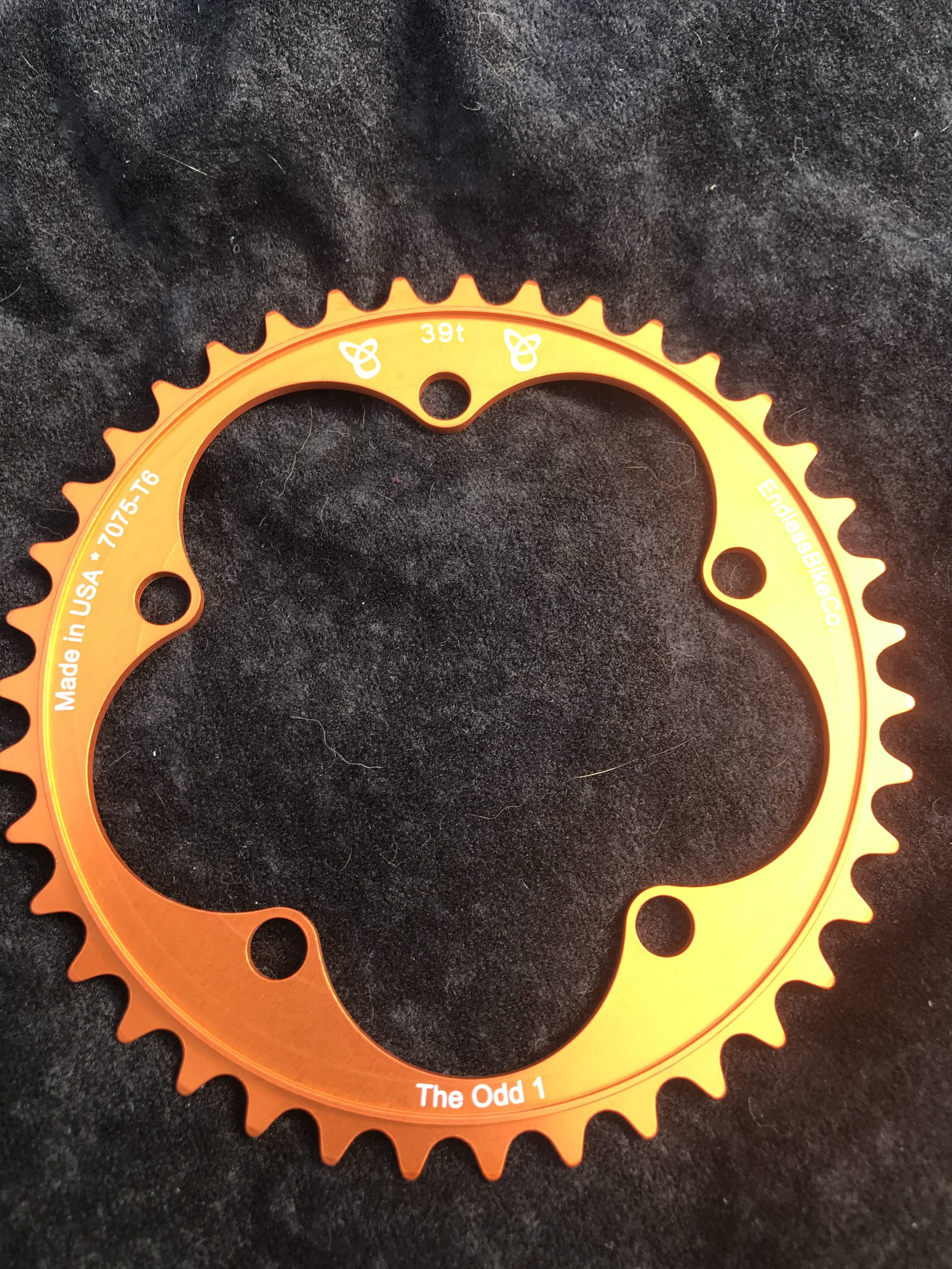 Narrow wide chain ring 39 tooth orange
