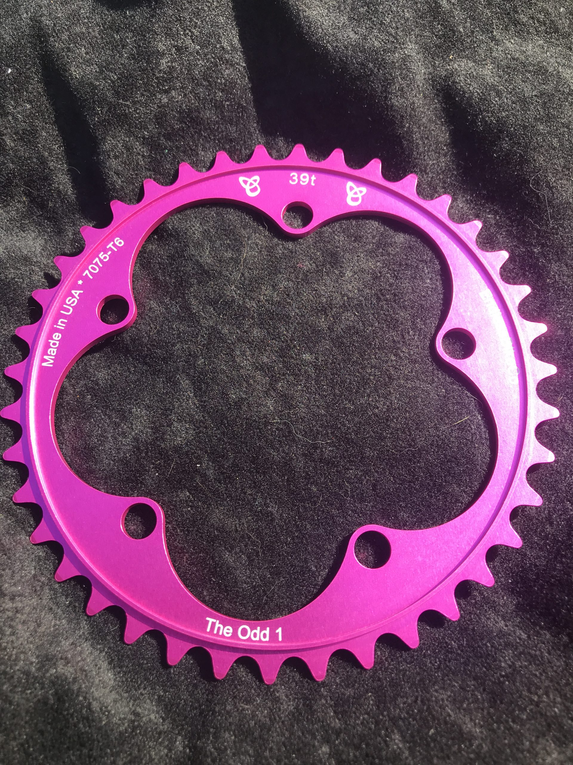 Narrow wide chain ring 39 tooth pink