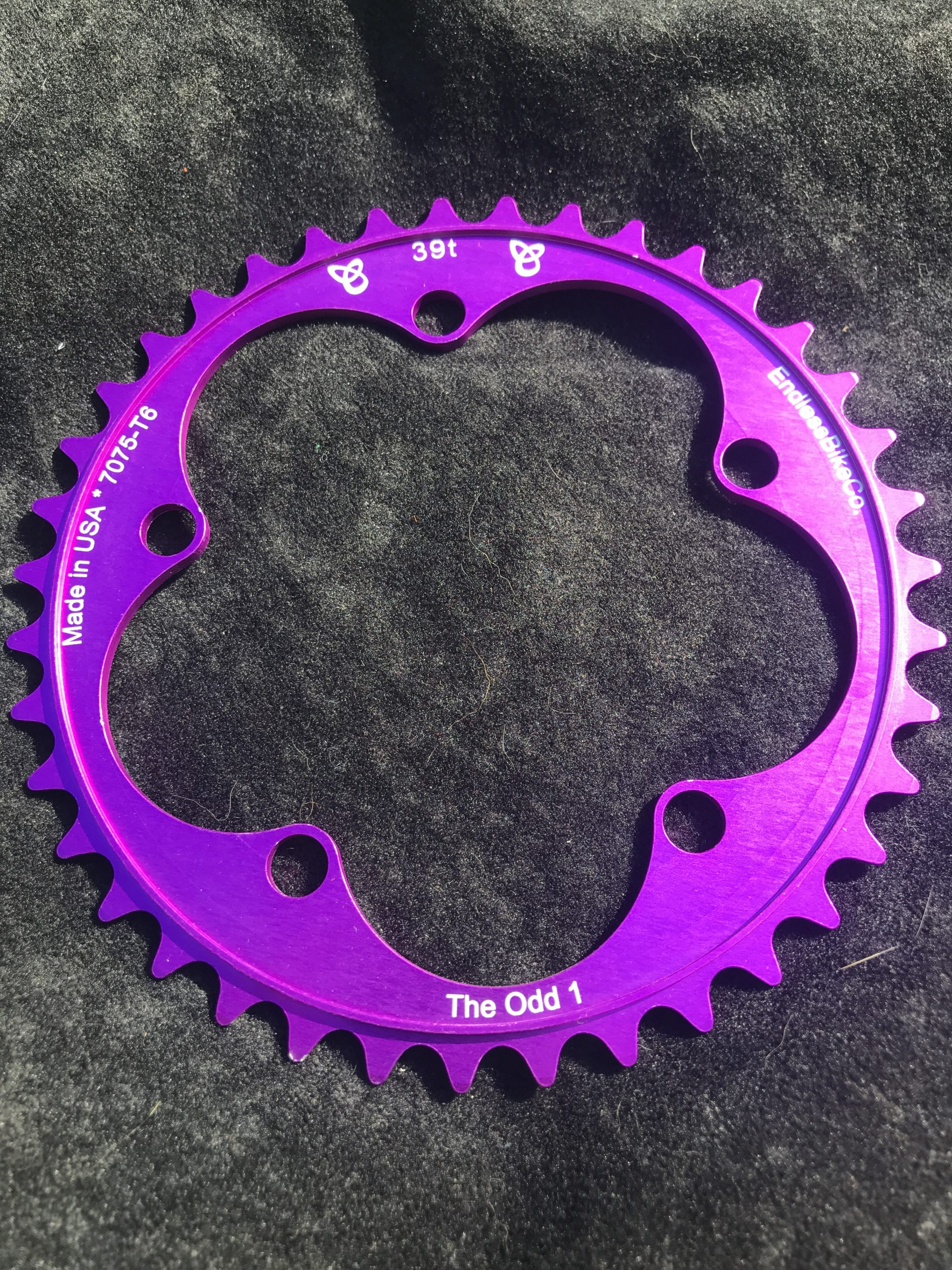 Narrow wide chain ring 39 tooth purple